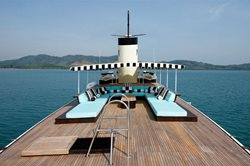 Top of luxury yacht in Thailand